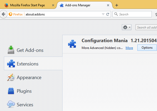 Configure Firefox without About Config with an Add-on 05