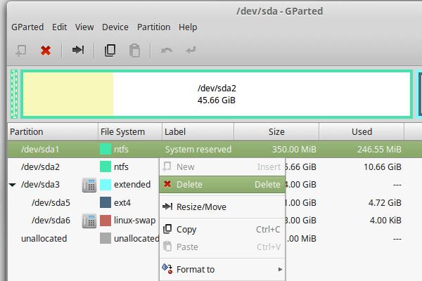 Delete Windows from Linux Mint - Ubuntu Dual-Boot 05