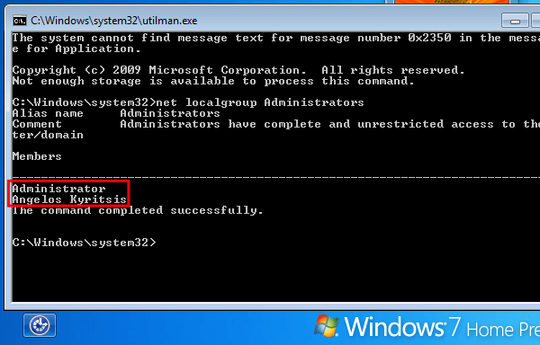 Gain Administrator Access in Windows without a Password 20