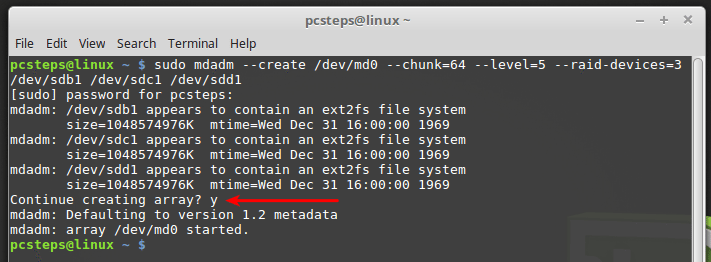 How To Create a Software RAID 5 in Linux Mint / Ubuntu