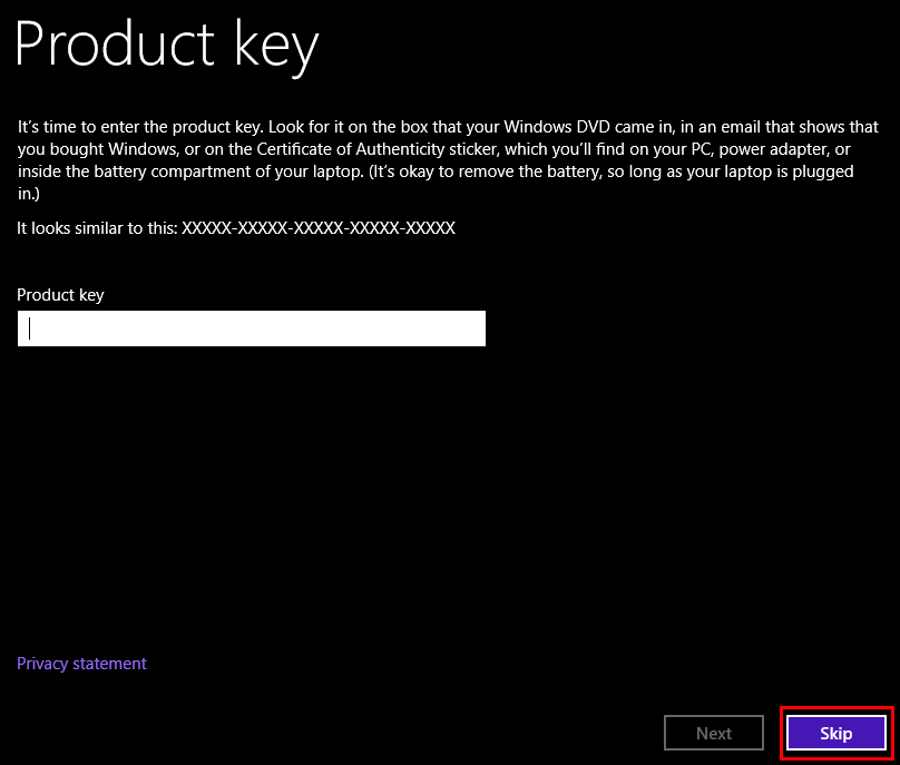 Install Windows 8.1 without a Product Key 11