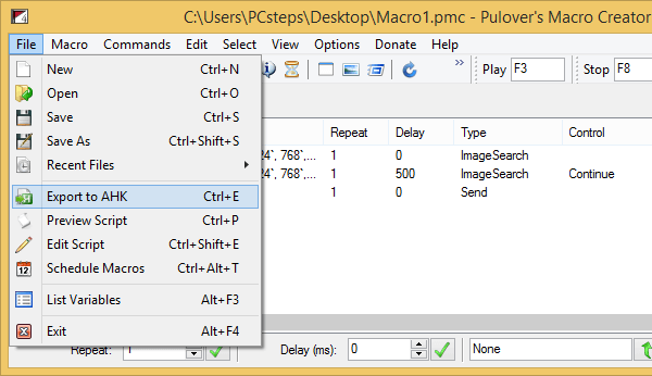 Windows Automation with the Free Pulover's Macro Creator | PCsteps com