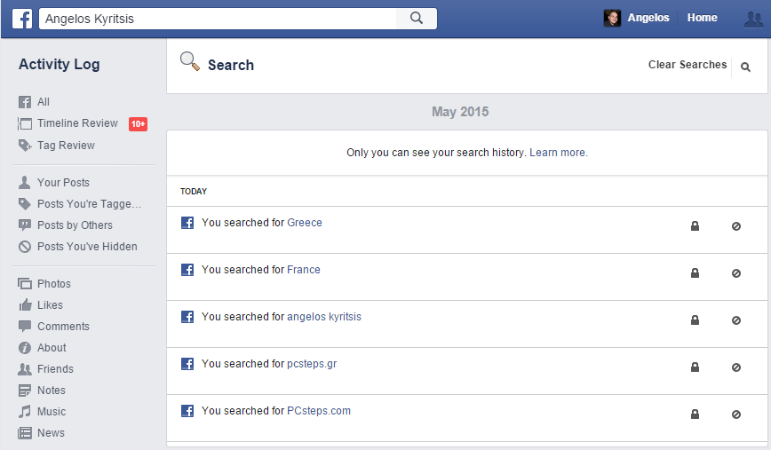 How To Completely Clear Delete Facebook Search History in my Profile 04