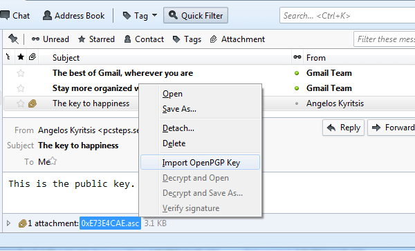 How To Send Secure Email Messages with OpenPGP Encryption Mozilla Thunderbird 23