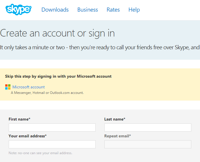 How To Use Skype Through the Browser, without a Client Installed 01