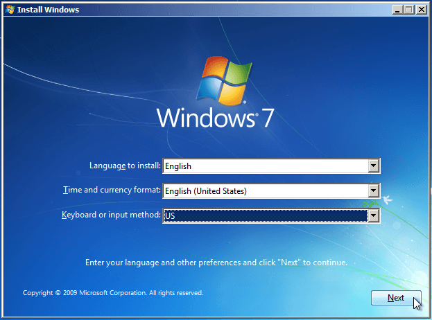 Install Windows 7 from USB or DVD, Step By Step 05
