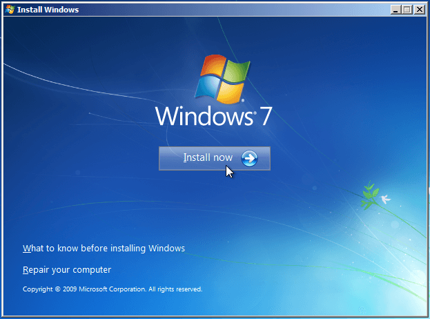 How to Install Windows 7 through USB 3.0 port?