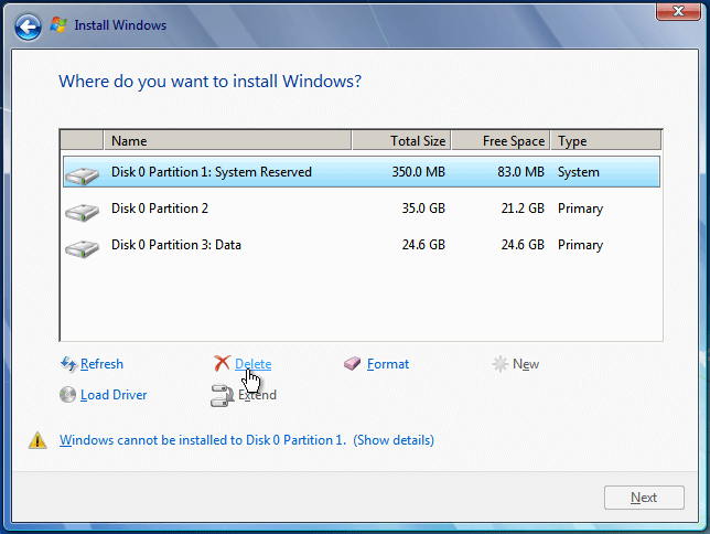 Install Windows 7 from USB or DVD, Step By Step 18