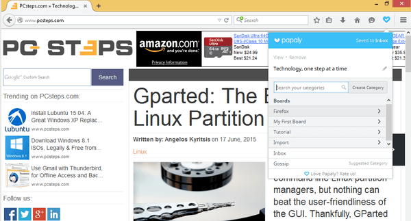 Organize Bookmarks in Chrome - Firefox with Papaly 18