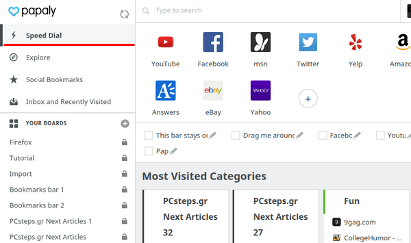 Organize Bookmarks in Chrome - Firefox with Papaly 27