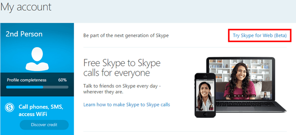 Skype Through Browser With Skype for Web 03