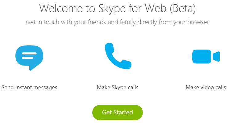 Skype Through Browser With Skype for Web 05