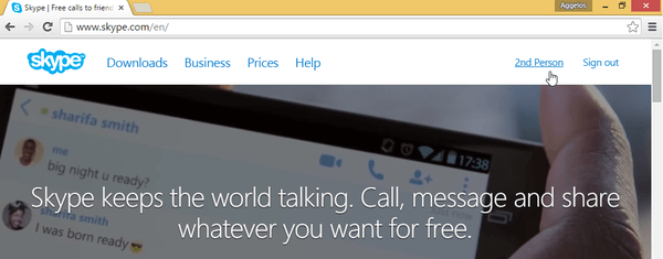 Skype Through Browser With Skype for Web 16