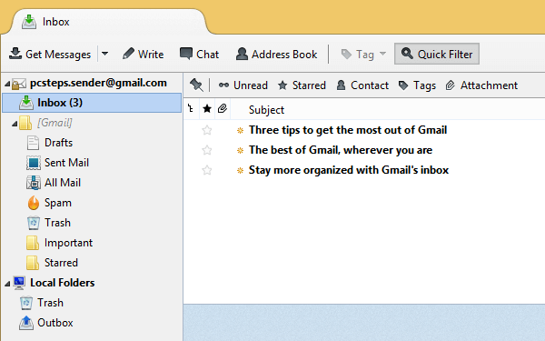 Use Gmail with Thunderbird, for Offline Access and Backup 15