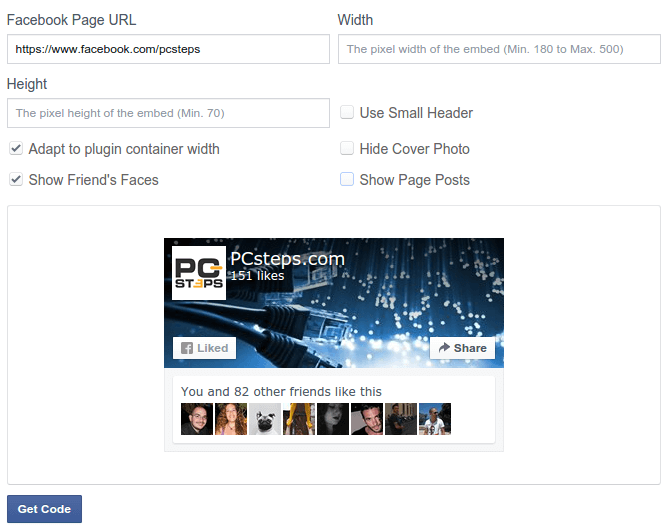 Add Facebook Page Plugin with Asynchronous Code 02