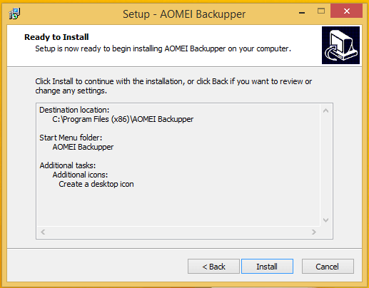 Full Windows Backup as an Image with AOMEI Backupper 02