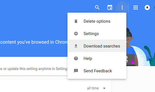 How to Download my Personal Google Search History 05