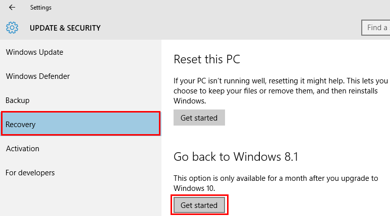 Uninstall Windows 10 and Revert to Previous Windows 04