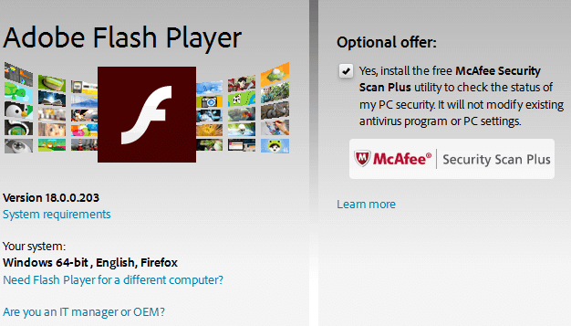 Update Flash Player - How to do it Safely 02