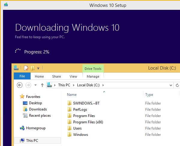 Upgrade Windows 8.1 to Windows 10 Without a Reservation 03