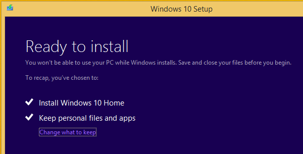Upgrade Windows 8.1 to Windows 10 Without a Reservation 06