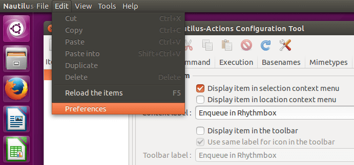 Add Right-Click Commands in Linux Mint - Ubuntu 12