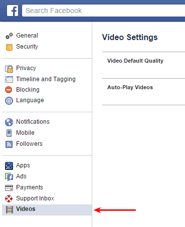 Disable Auto-playing videos on Facebook 02