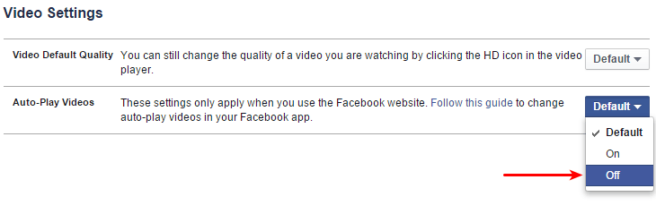 Disable Auto-playing videos on Facebook 03