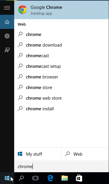 Disable Bing Search in Windows 10, or Replace with Google 01