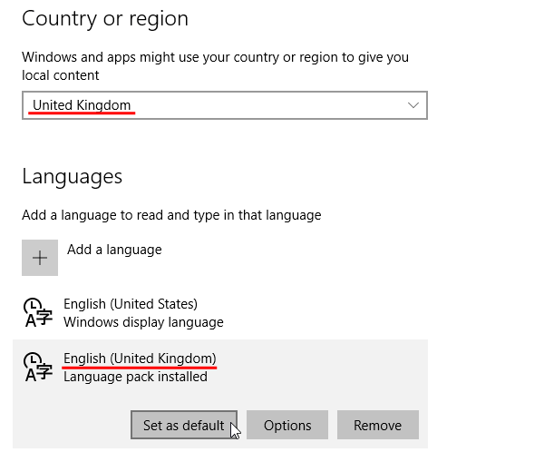 Enable Cortana for Windows 10 in an Unsupported Country 03e