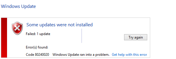Error 80240020 - How to Fix it for the Windows Upgrade 01