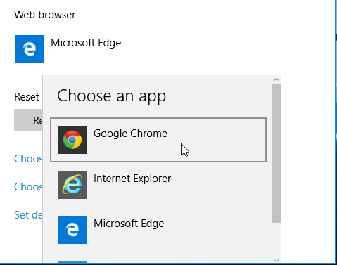 How to Change Default Browser in Windows 10 | PCsteps com