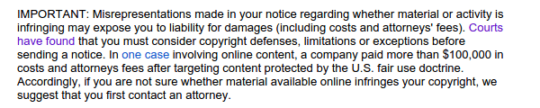 Report Copyright Infringement to Google Web Search 03