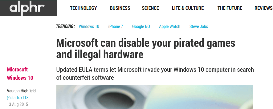Will Windows 10 Disable Pirated Games - No, it Will Not 01