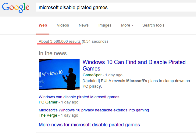 Will Windows 10 Disable Pirated Games? No, it Will Not