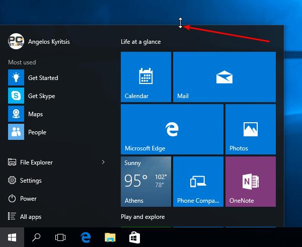 Windows 10 Start Menu - How to Customize It 01