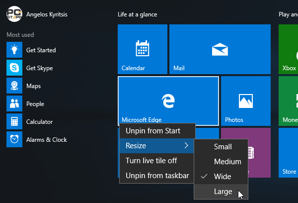 Windows 10 Start Menu - How to Customize It 04a