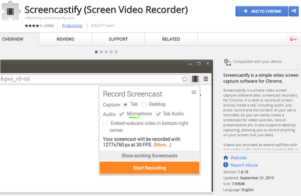 Desktop Recording on Windows Linux Mac OS X with Chrome 01