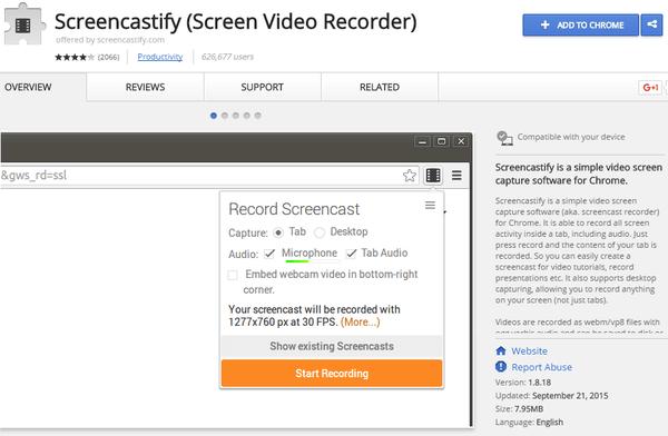 Desktop Recording on Windows/Linux/Mac OS with Chrome | PCsteps com