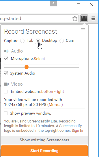 Desktop Recording on Windows Linux Mac OS X with Chrome 05