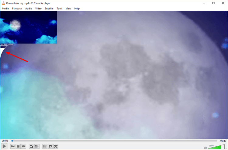 How to zoom video playback with VLC media player 05
