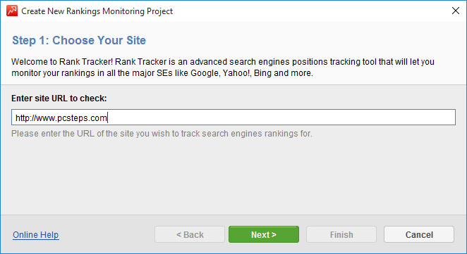 Find your Website Rank for SEO with Rank Tracker 04
