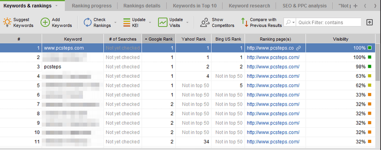 Find your Website Rank for SEO with Rank Tracker 11