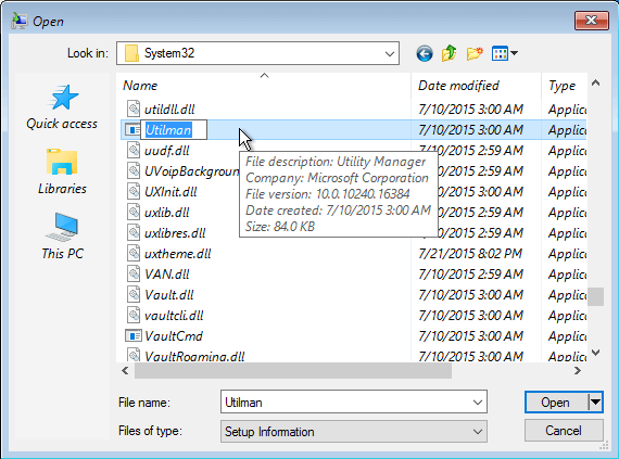 Gain Administrator Access in Windows without a Password October 2015 39