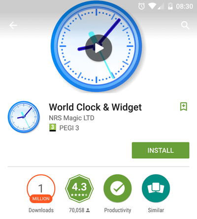 Manage Timezones with an Android Home Screen Widget 01