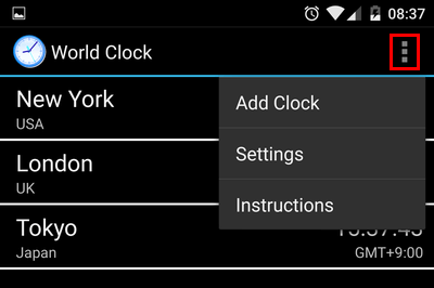 Manage Timezones with an Android Home Screen Widget 02