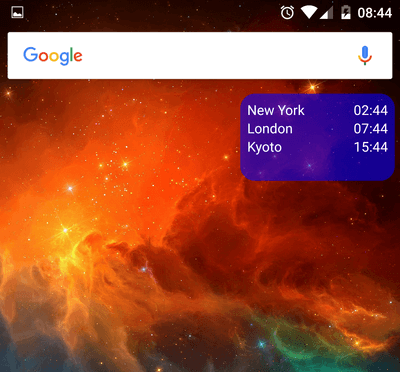 Manage Timezones with an Android Home Screen Widget 08