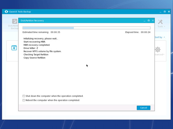 Windows Backup with the Excellent EaseUS Todo Backup 34