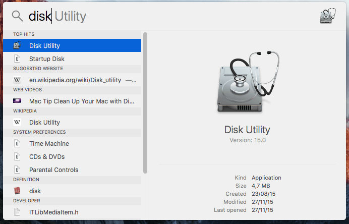 Disk Utility on Mac OS X - Manage Disk - Partition Disk - Resize Partition - Create Partition 01
