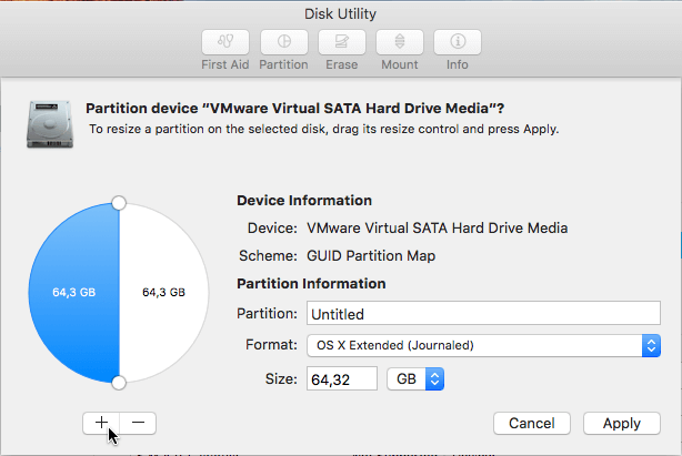 Disk Utility on Mac OS X - Manage Disk - Partition Disk - Resize Partition - Create Partition 08